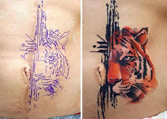 Cicatrizes Transformadas Em Fantásticas Tatuagens (15)