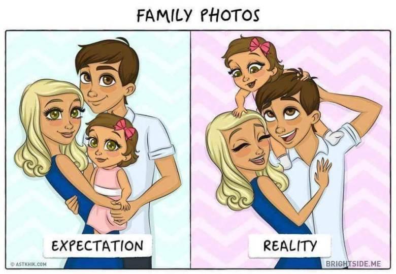 Divertidas Ilustrações Do Antes E Depois Da Chegada De Um Bebé