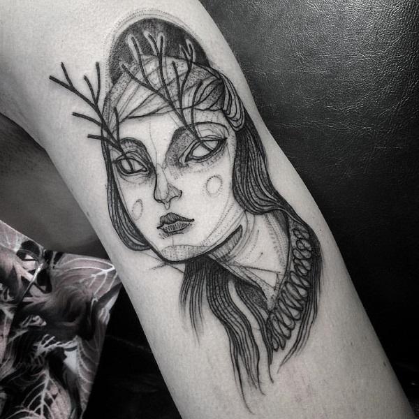 Impressionantes Tatuagens De Nomi Chi Parecem Esboços A Lápis 15