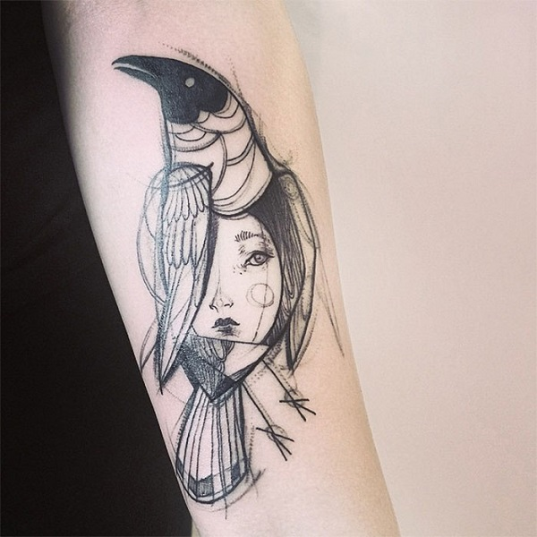 Impressionantes Tatuagens De Nomi Chi Parecem Esboços A Lápis (7)