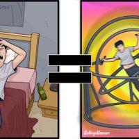 15+ Imagens Que Ilustram Como É O Mundo Pelos Olhos Dos Bêbados